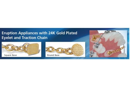 Eruption Appliance With 24K Gold Plated Eyelet & Traction Chain